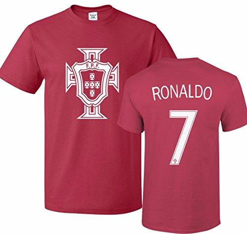 the latest 9f98f 1805a Tcamp Portugal Soccer Shirt Cristiano Ronaldo #7 Jersey Men ...